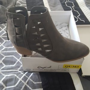 Grey Booties Brand New in Box